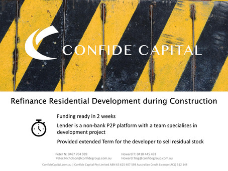 Refinance Residential Development during Construction