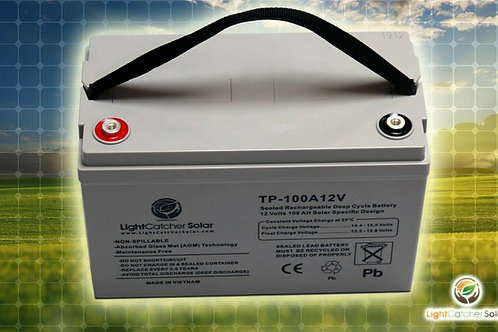 Solar Specific 100Ah 12V Volt Deep Cycle AGM Battery
