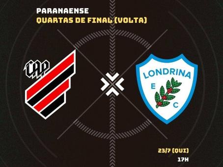 Athletico e Londrina lutam pela vaga na semifinal na Arena; saiba tudo sobre o jogo