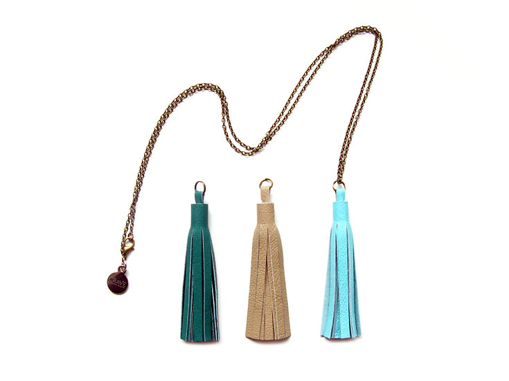 Interchangeable Leather Tassel Necklace