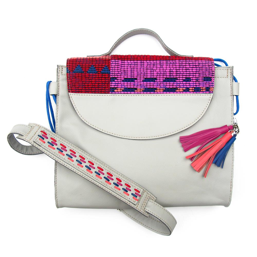 recycled leather handbag crave by carli rae vergamini