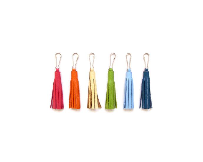 "2"" Leather Tassel Key Chain | Small Tassel | Zipper Pull | Leather Tassle"