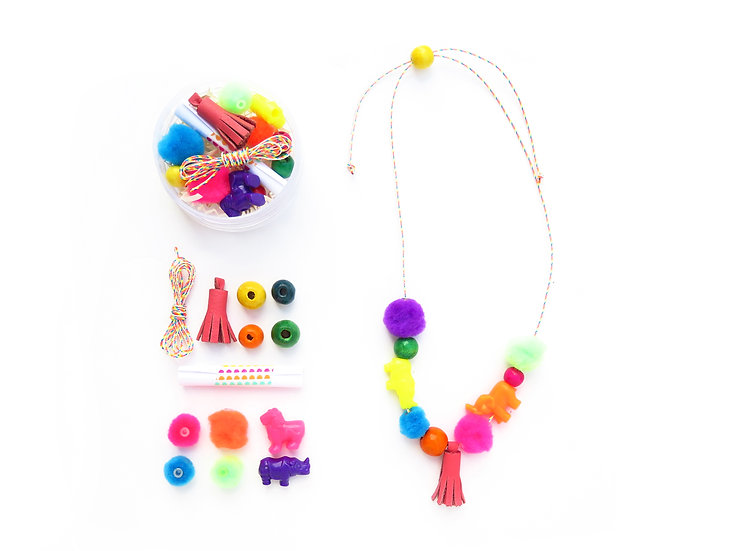 Colorful DIY Necklace Kit | Ages 6+