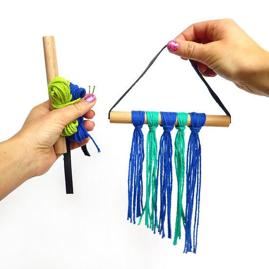 Mini Fiber Fringe Wall Hanging DIY Kit