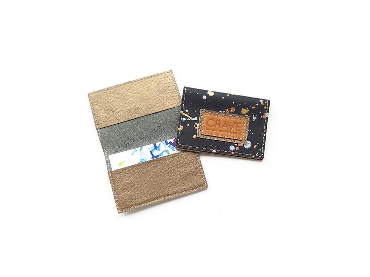 Metallic Splatter Card Case