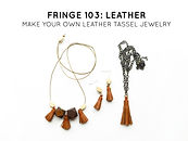 learn to make leather tassel jewelry