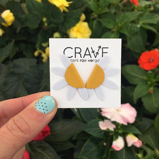 Flower Power Daisy Stud Earrings