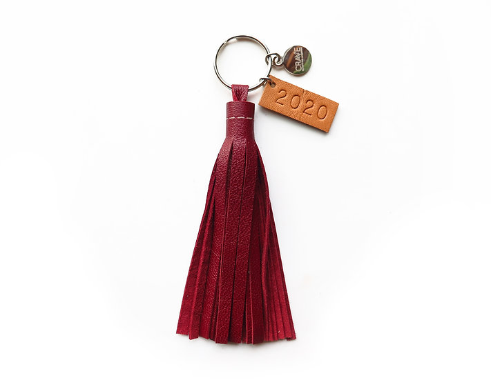 Class of 2020 Leather Tassel Keychain
