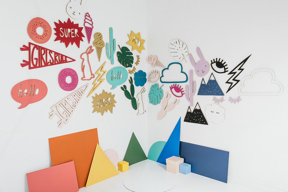 pink linen designs wall art