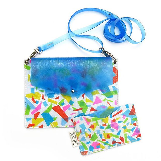 Terrazzo Card Case Upcycled From a Kiddie Pool