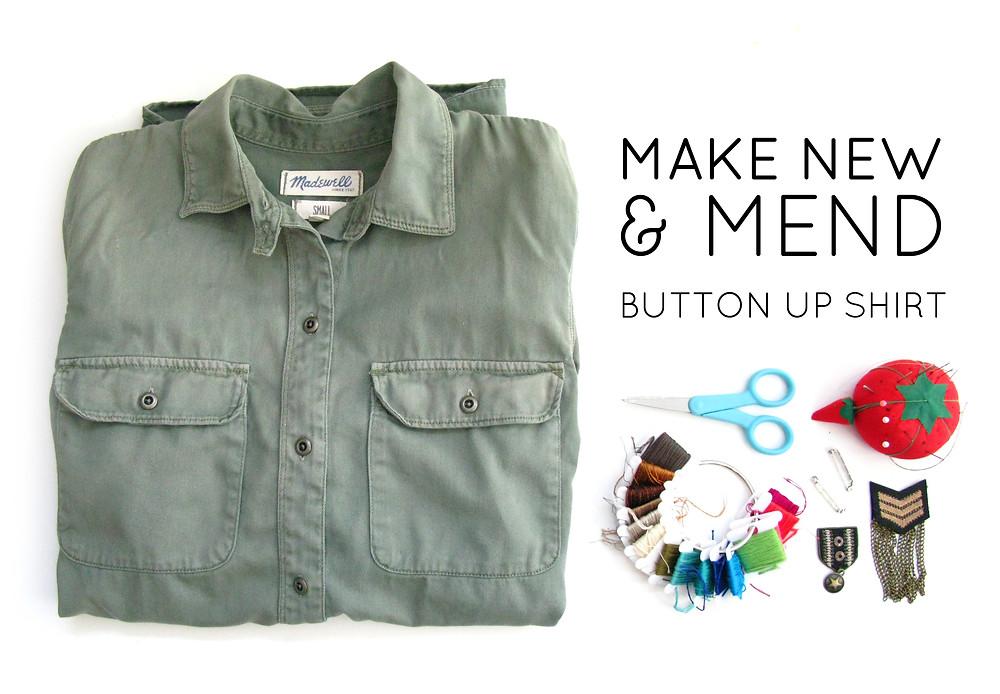 make do and mend shirt DIY
