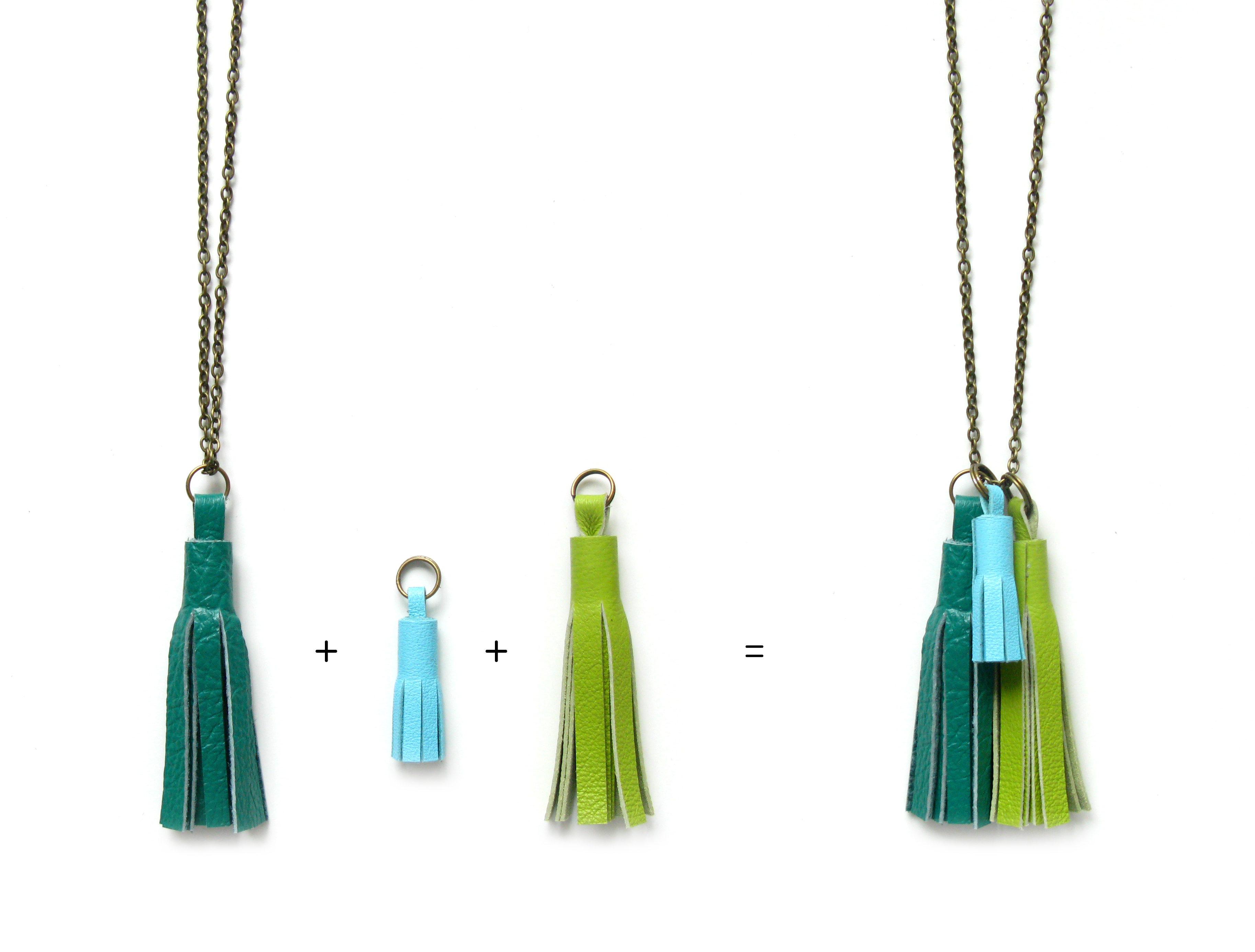 custom leather tassel necklace
