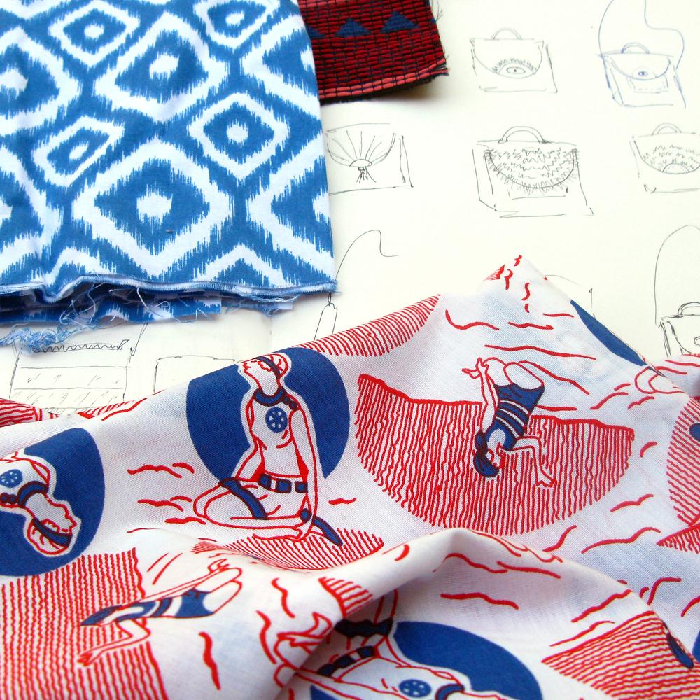 vintage swimsuit fabric