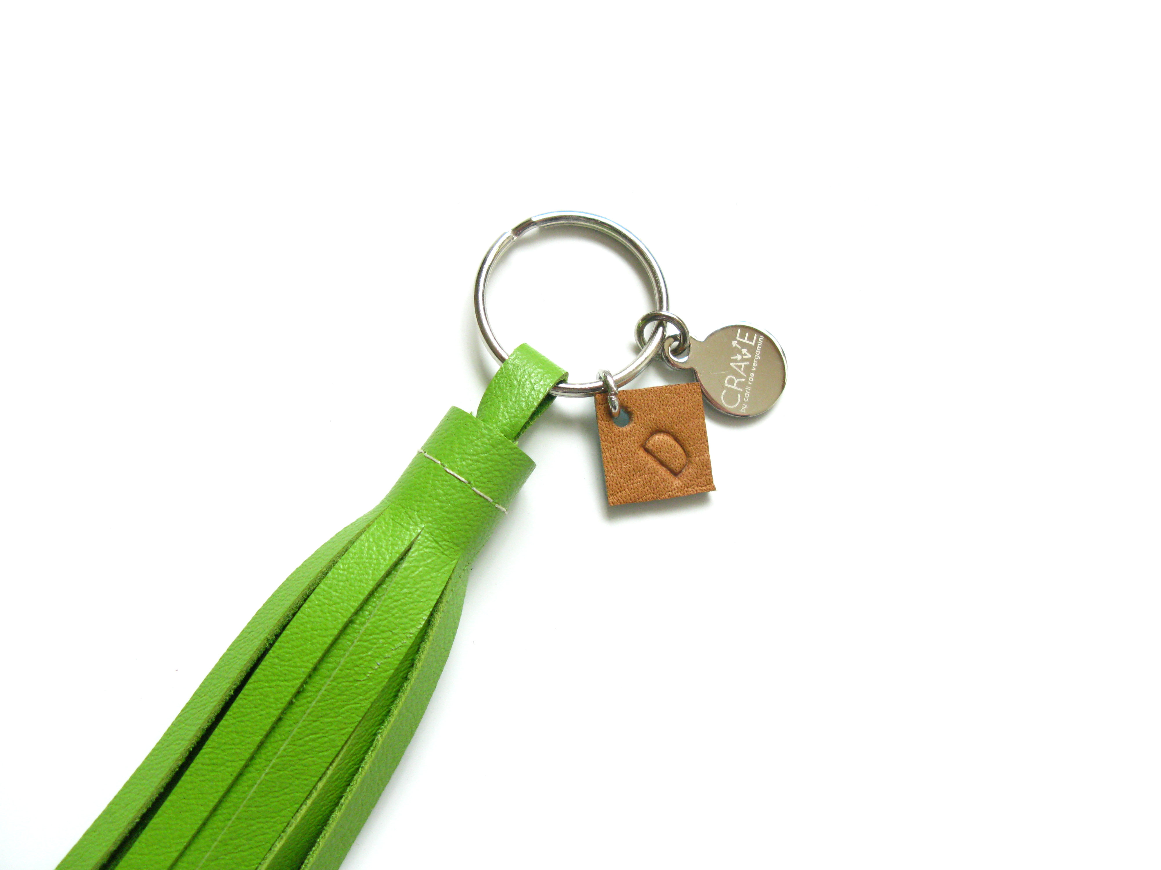 Leather Monogram Tassel Key Chain | Personalized Tassel | Initial Charm  Tassel | CRAVEbyCRV