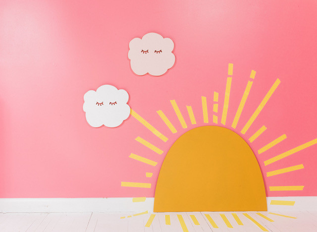 pink linen designs clouds