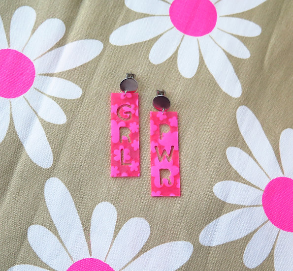 GRL PWR Flower Power Earrings | Upcycled from a kiddie pool