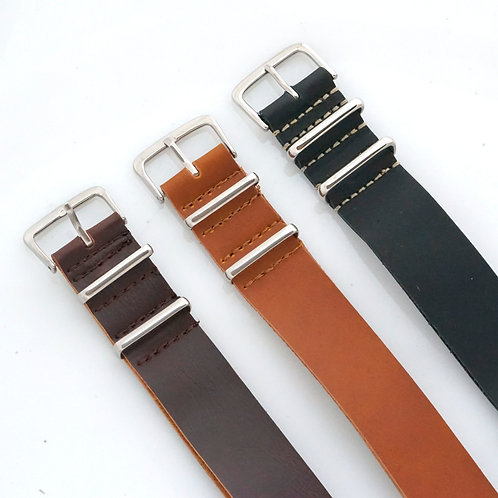 Sale - NATO - Leather - 3 straps