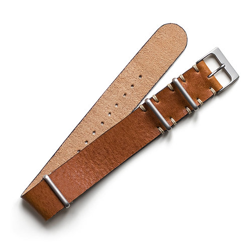 Two Stitch - NATO - Leather - Caramel