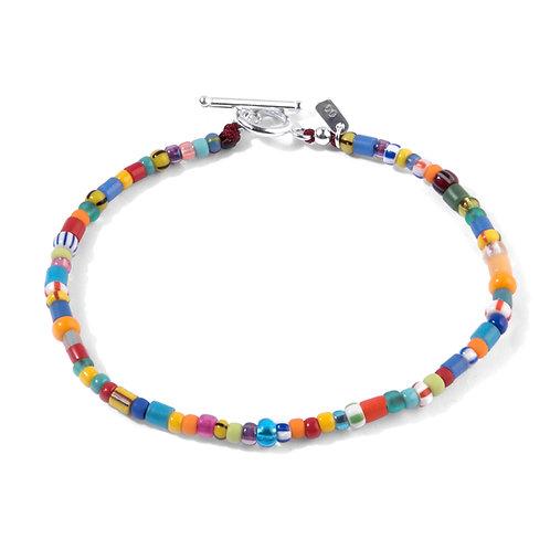 Oskar Gydell - Africa Color Bracelet - One lap - Silver