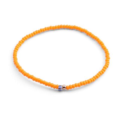 Oskar Gydell - Orange seed beads bracelet