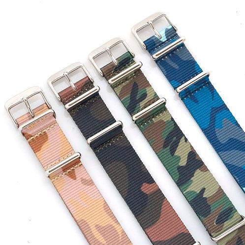 Sale - NATO - Nylon Camo - 4 straps