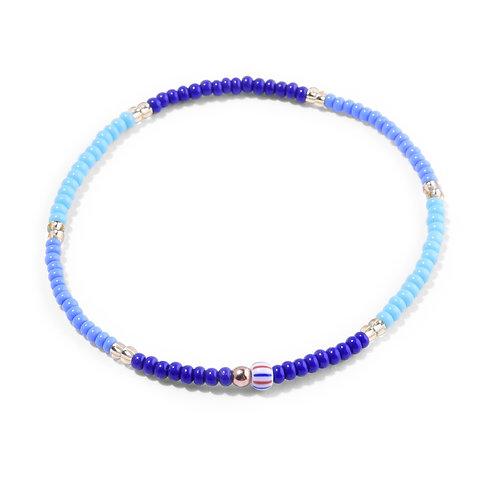 Oskar Gydell - Blue mix seed beads bracelet