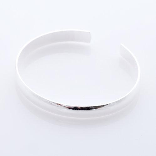 Silver rounded Bracelet - Polished