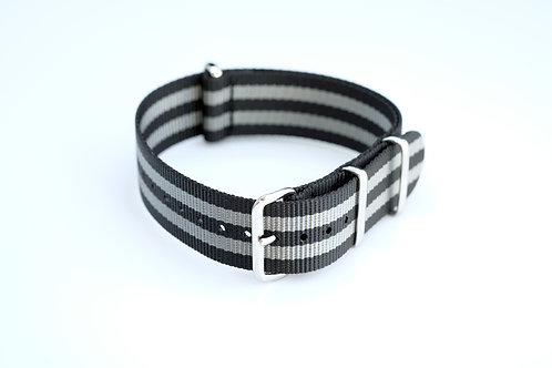 Nylon - Black & grey striped