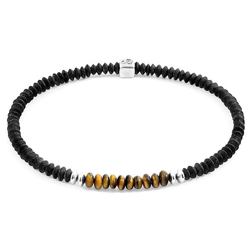 Anchor & Crew - Brown Tigers Eye Paralana silver and stone