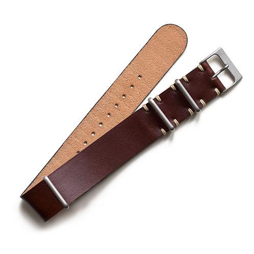 Two Stitch - NATO - Leather - Chocolate