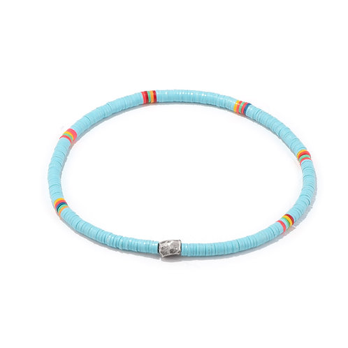 Oskar Gydell - Vinyl color bracelet light blue small