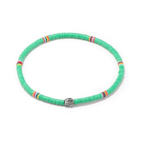 Oscar Gydell - Vinyl color bracelet turquoise small