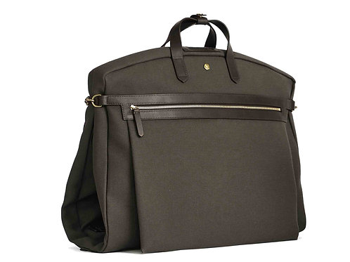 Mismo - Suit carrier - Dark brown - Leather/Canvas