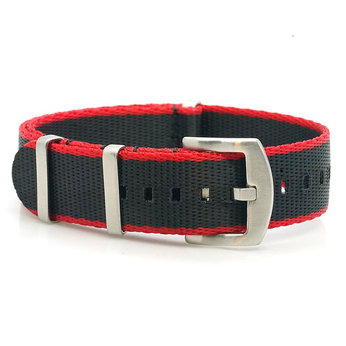 Nato - Seabelt - Black/red