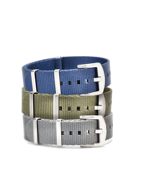 Nato Strap Blue/Military/Grey Trilogy - WB Original