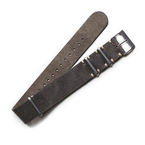 Two Stitch - NATO - Vintage Grey Leather