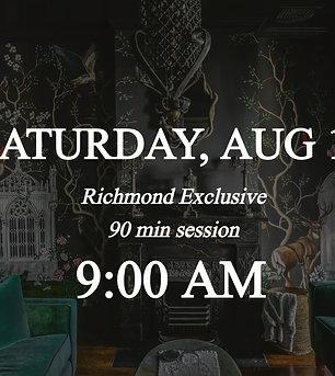 Richmond Exclusive - 9am on Saturday 8/14