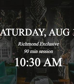Richmond Exclusive - 1030am on Saturday 8/14