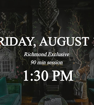Richmond Exclusive - 1:30pm on Friday 8/13