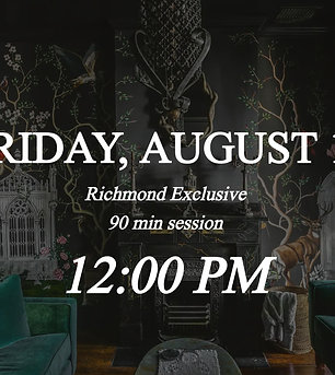 Richmond Exclusive - 12pm on Friday 8/13