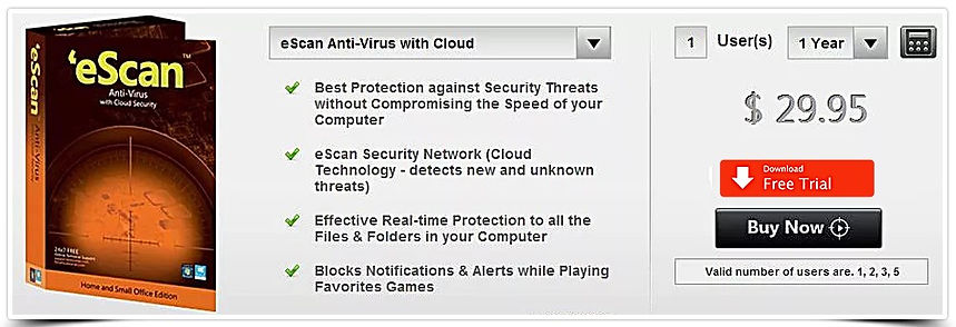 escan antivirus with cloud