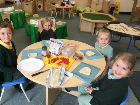 Pizza Making in Early Years