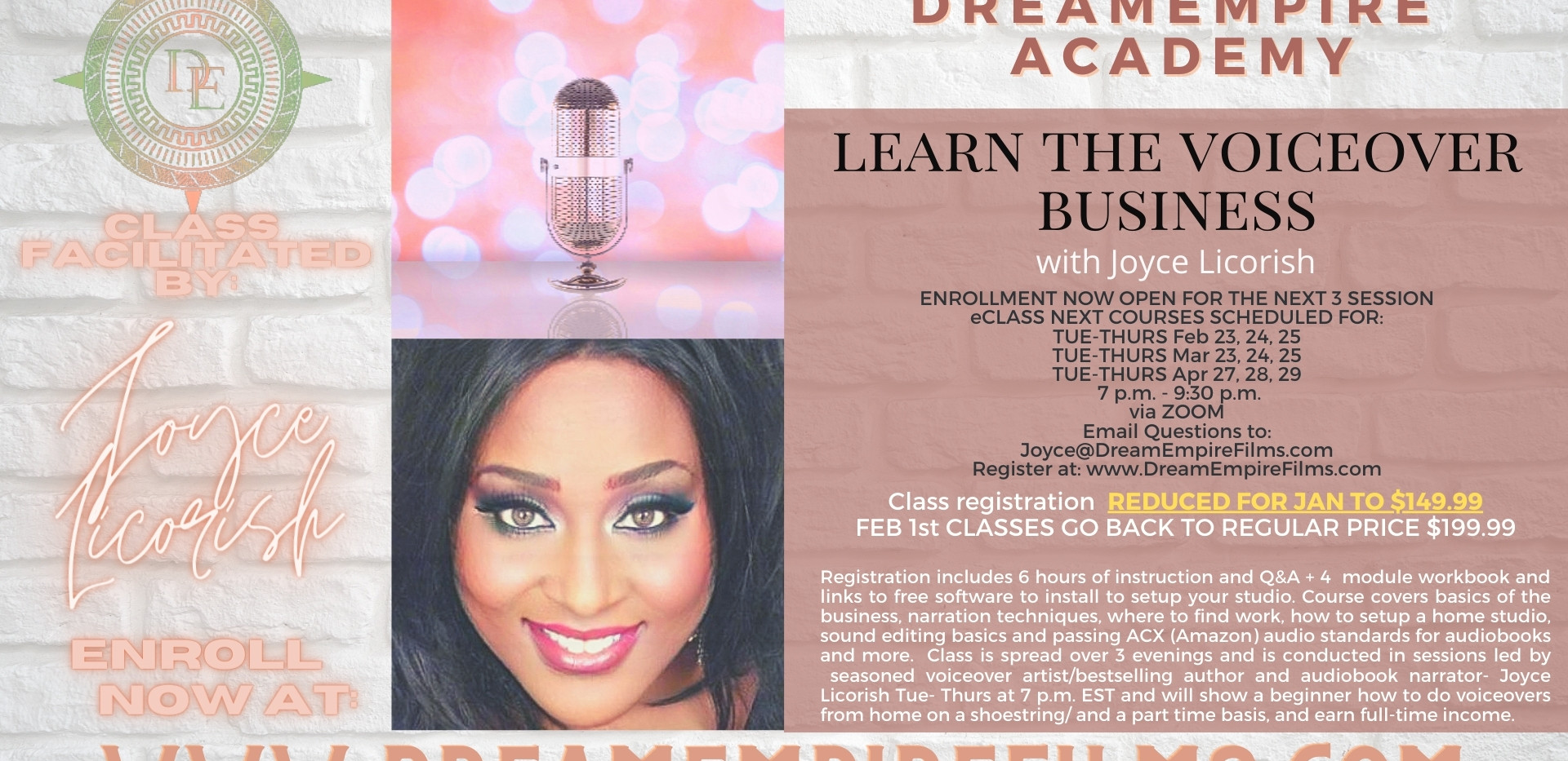 Learn the Voiceover Business Feb, Mar, A