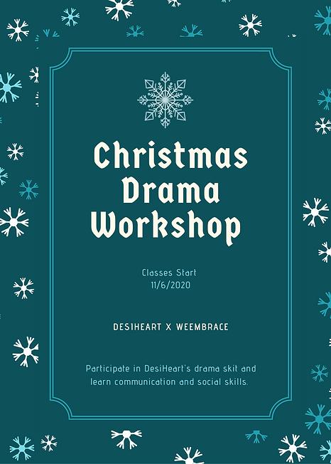 Dark Blue Snowflake Christmas Flyer.png