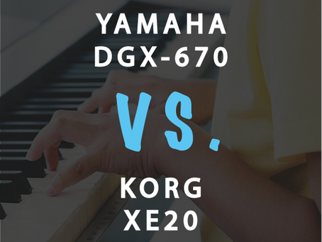 Compare: Yamaha DGX-670 vs Korg XE20 - One Gets Destroyed