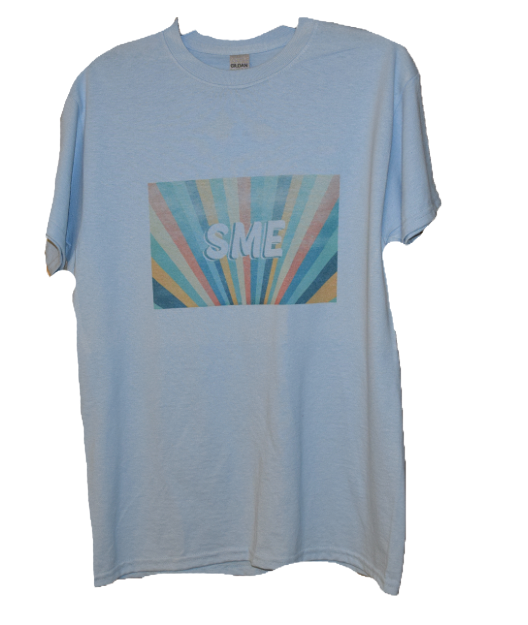 SME in Rainbow T-Shirt- blue