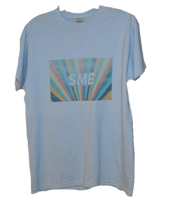 SME in Rainbow T-Shirt- blue