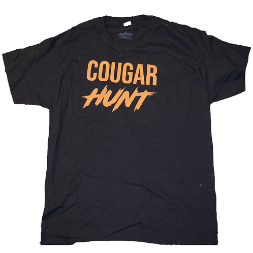 Cougar Hunt (Black/orange) T-Shirt