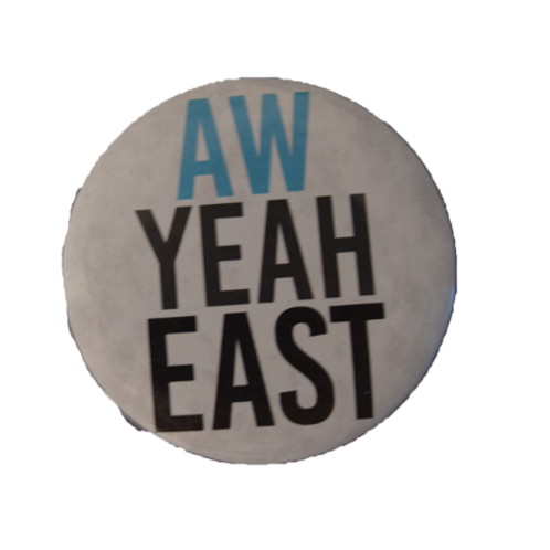 Aw Yeah East Button