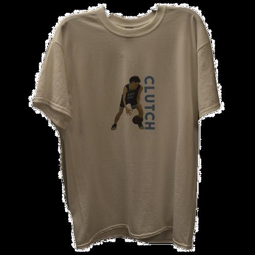 """Clutch"" White T-Shirt"